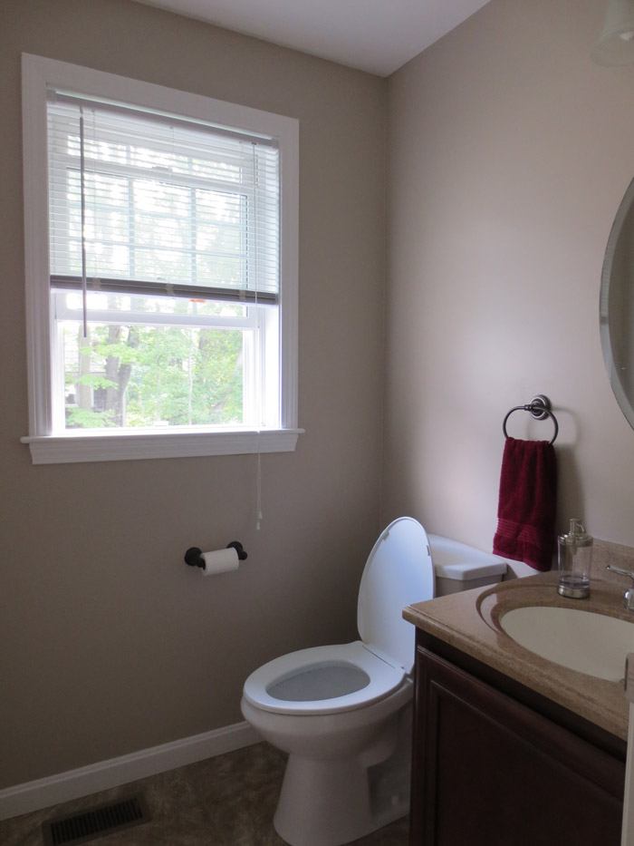 virtual interior design accessorizing powder room before view 1 Bridgewater Massachusetts