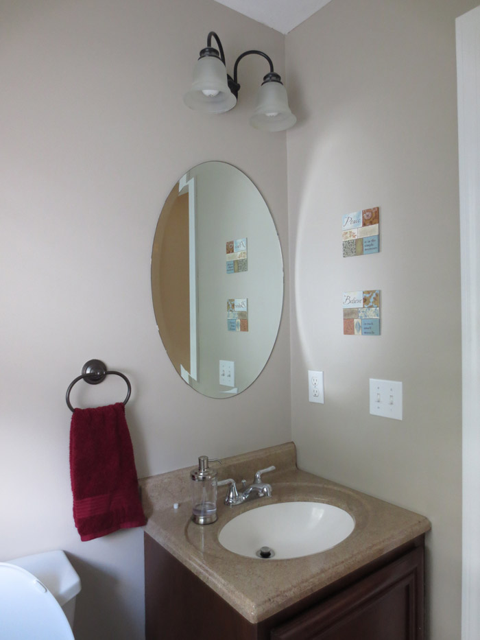 virtual interior design accessorizing powder room before view 2 Bridgewater Massachusetts