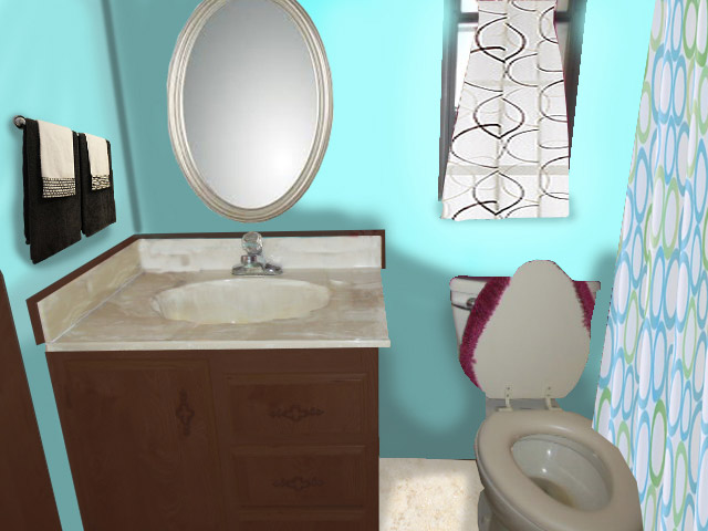 Guest bathroom edited view virtual redesign in Tucson Arizona