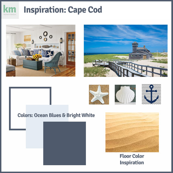Defining interior design terms sample of a mood board cape cod inspired