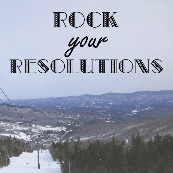 Rock your resolutions mountain scene time management promo