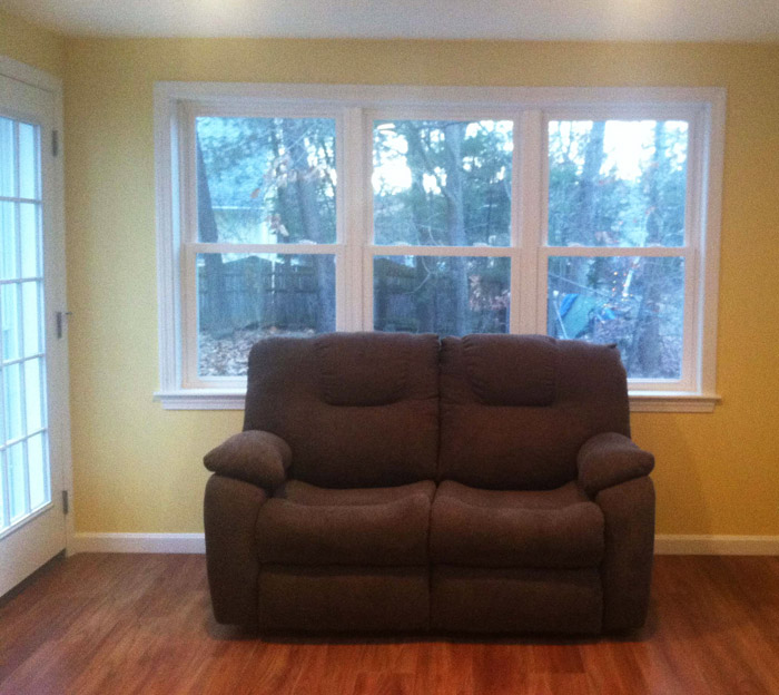 Before picture of custom window treatment project in Nashua New Hampshire