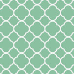 Interior design hints for styling on your own jade green quatrefoil pattern
