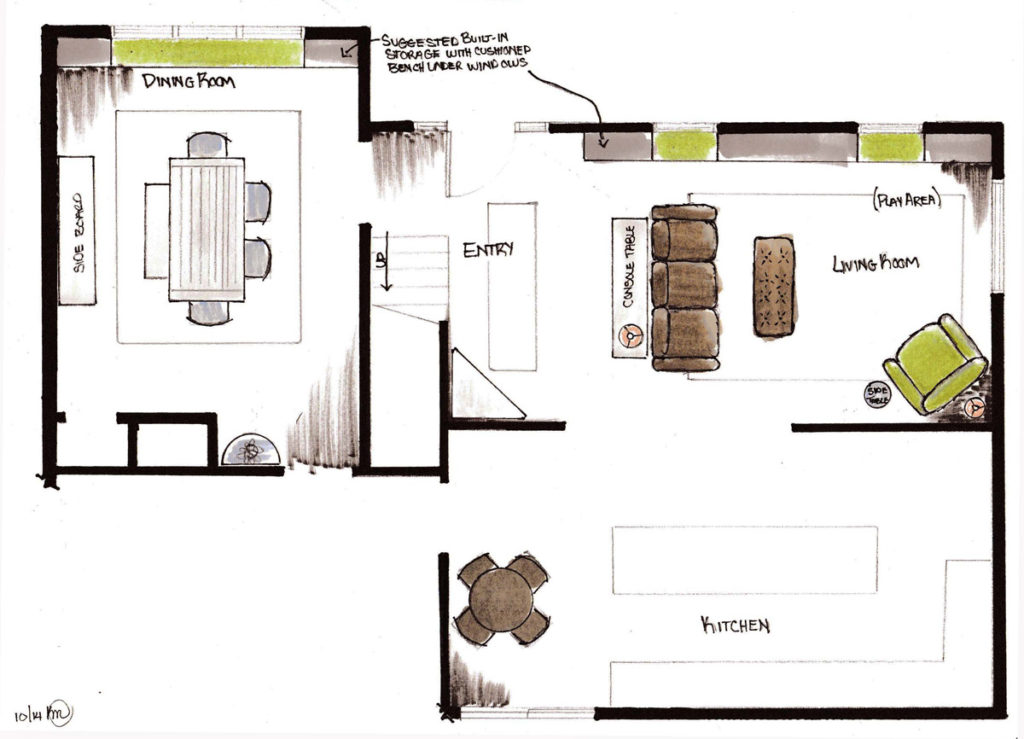 Space plan for new home under construction in Easton Massachusetts option 2