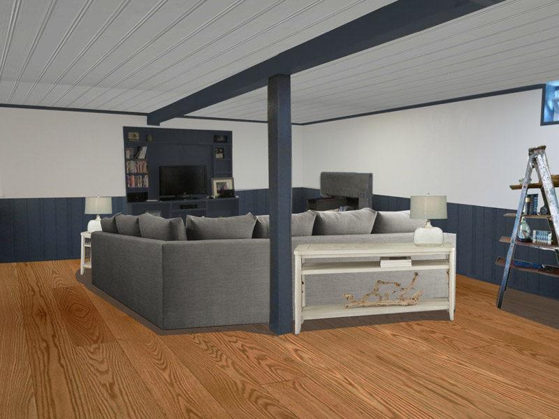 after view 2 cape cod style virtually redesigned finished basement seekonk massachusetts