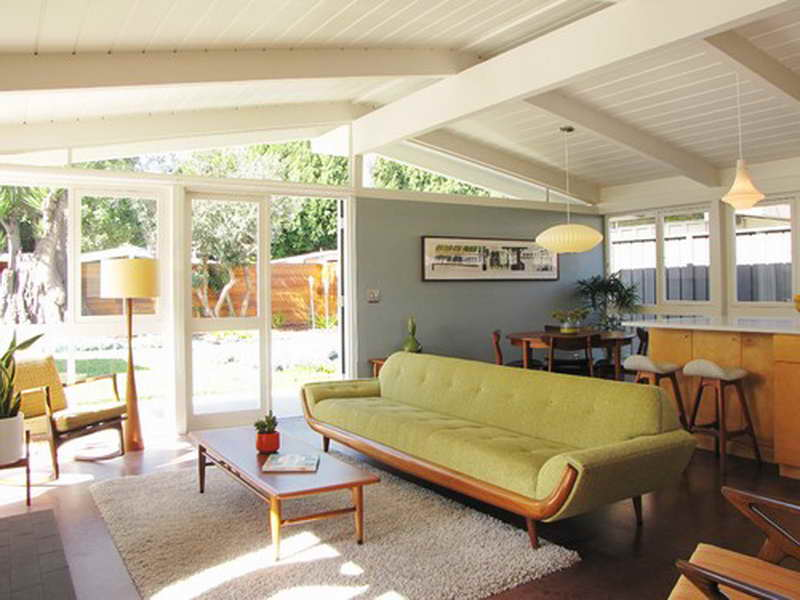 Example of a mid century modern living room for interior design style guide